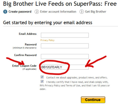 Big Brother Feed Discount Code
