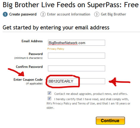Big Brother Live Feed Discount Code