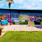 Big Brother 13 house - backyard wall