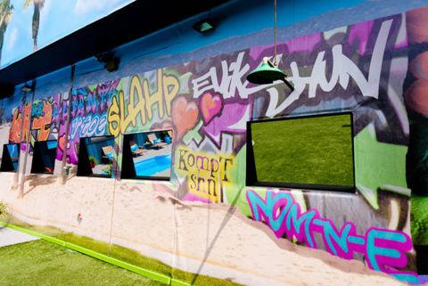 Big Brother 13 house – backyard wall