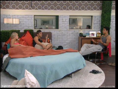 Big Brother 13 Dominic talks to Jeff and Jordan