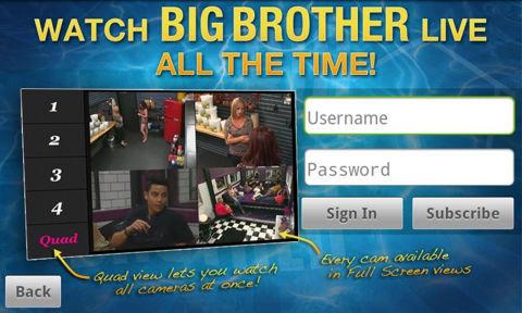Big Brother Mobile app