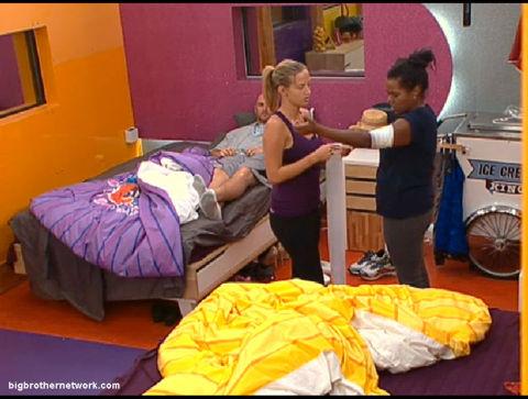 Big Brother 13 Kalia bandaged