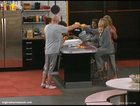 Big Brother 13 mimosas toast