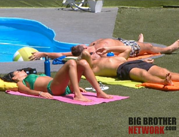 Big Brother 14 Live Feeds sunbathing
