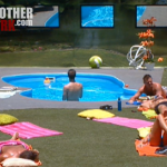 BB14 Live Feeds July 16 backyard