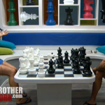 BB14 Janelle and dan play chess