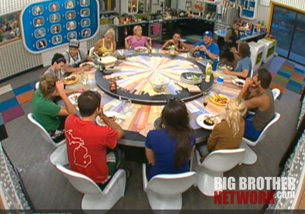 BB14 Eating dinner