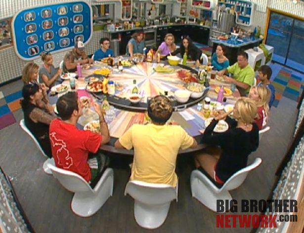 Big Brother 14 20120714 – group dinner