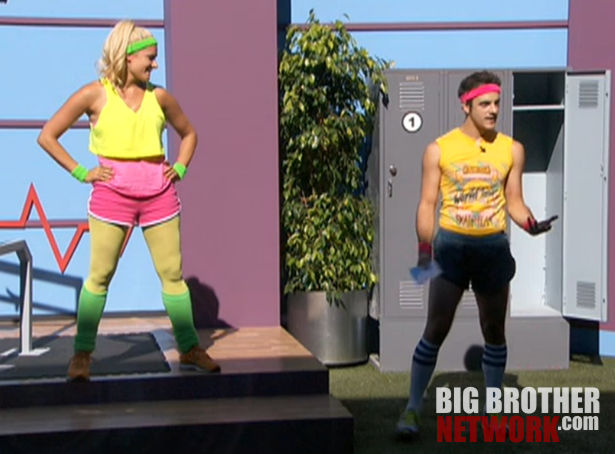 Big Brother 14 – Janelle and Dan in Coaches Comp