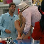 Big Brother 14 20120728 party - Ashley and Boogie kiss
