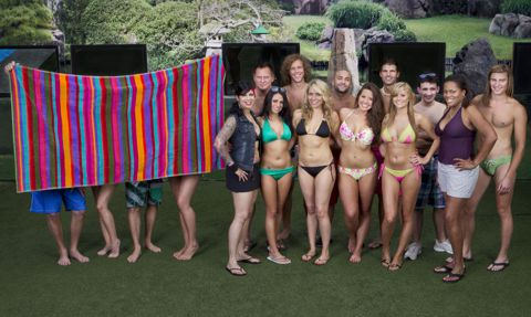 Big Brother 14 houseguests poolside