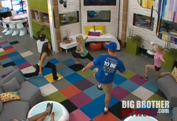 BB Live Feeds 8 7 living room workout