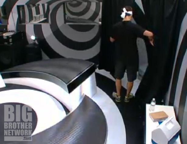 Dan in solitary confinement on Big Brother 14