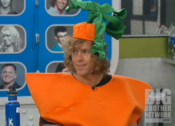 Frank as a carrot on Big Brother 14