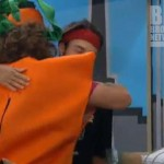 Dan and Frank hug after meeting on Big Brother 14