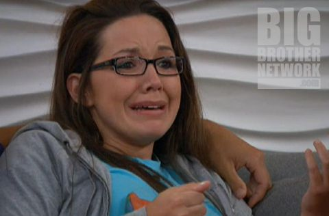Danielle in tears on Big Brother 14