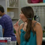 Big Brother 14 - Danielle enjoys a candy cane
