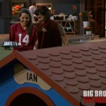 Danielle leading Ian on the leash - Big Brother 14