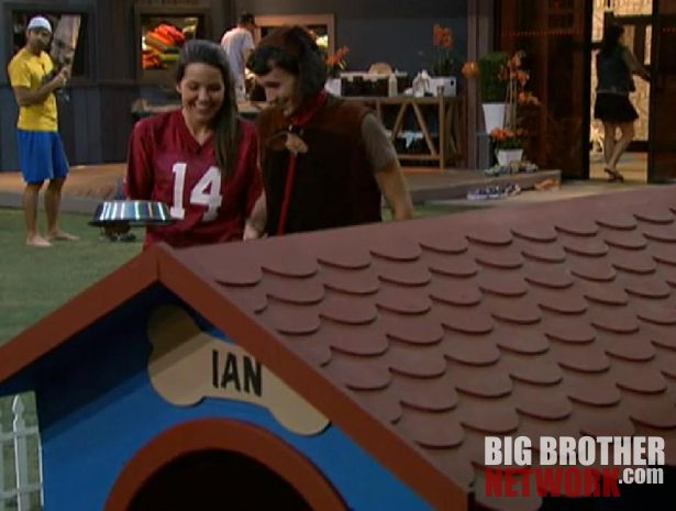 Danielle leading Ian on the leash – Big Brother 14