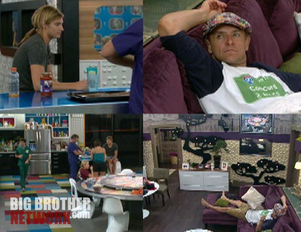 Big Brother 14 - Post-Veto quad-cam view