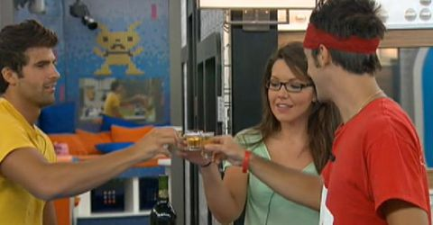 Shane Danielle and Dan toast on Big Brother 14
