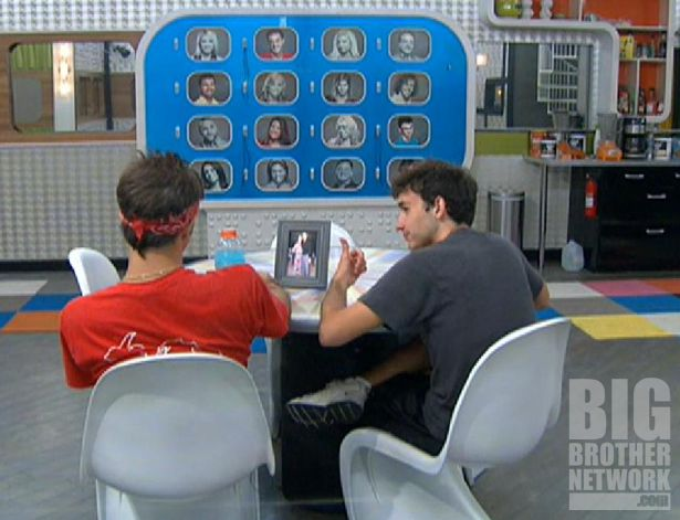 Big Brother 14 – Dan and Ian study the memory wall