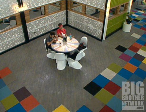 Big Brother 14 – Ian and Dan at smaller table