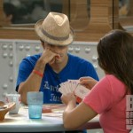 Dan and Danielle play cards on Big Brother 14