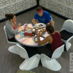 Danielle, Dan, and Shane eat on Big Brother 14