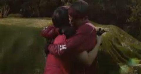 Big Brother 14 Dan and Danielle hug