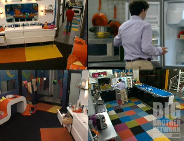 Quad view of Big Brother 14