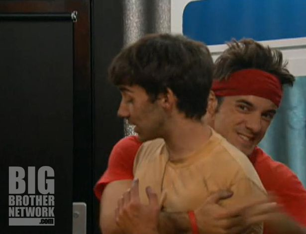 Dan hugs Ian on Big Brother 14