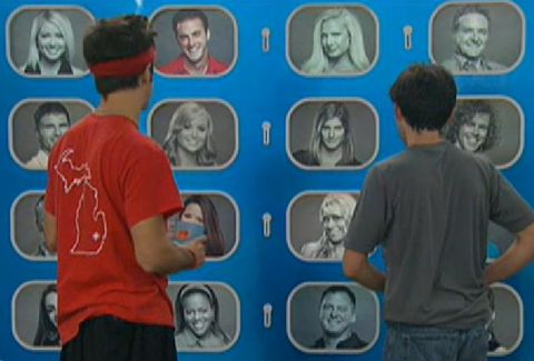 Big Brother 14: Dan and Ian study the Memory Wall