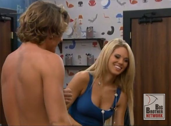 ... 15 Premiere Night Live Feeds Highlights » Aaryn flirts with David