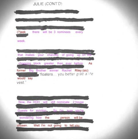 Big Brother 15 Julie Chen's premiere script
