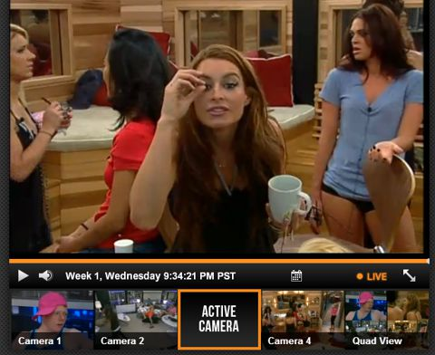 Big Brother Live Feeds player