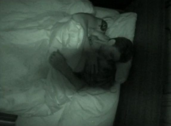 Jeremy and Kaitlin in bed