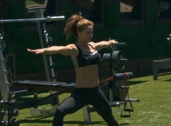 Elissa doing yoga