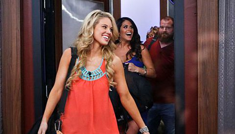 Aaryn Gries enters the house