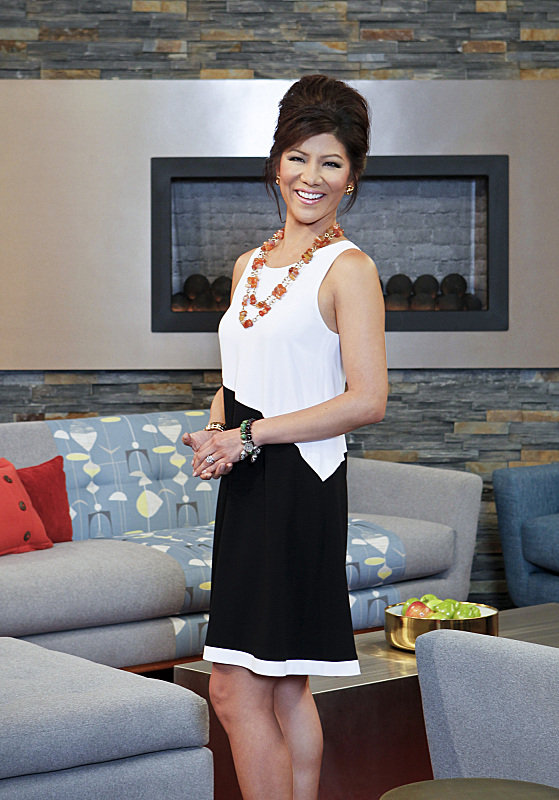 BIG BROTHER 15 – Julie Chen with the fireplace
