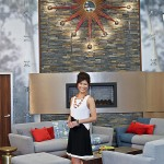 BIG BROTHER 15 - Julie Chen in the living room