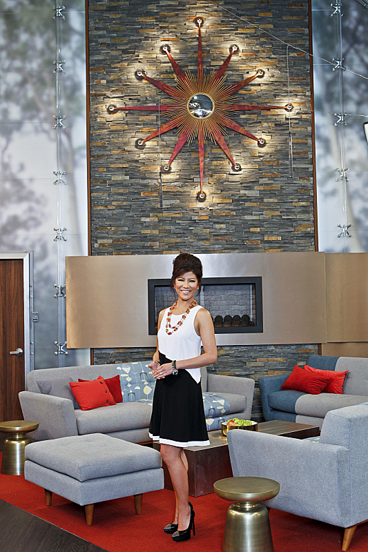 BIG BROTHER 15 – Julie Chen in the living room