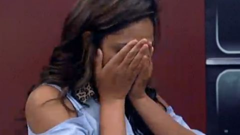 Candice crying