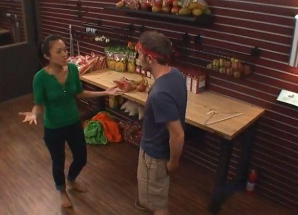 Big Brother 15 house meeting – Judd & Helen