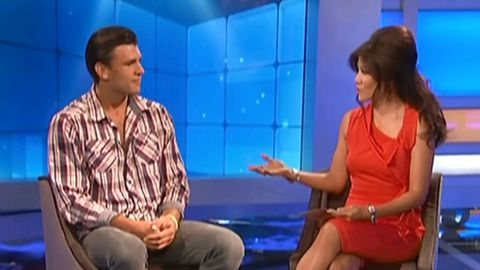 Jeremy McGuire with Julie Chen