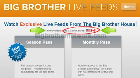 Big Brother Live Feeds in Canada