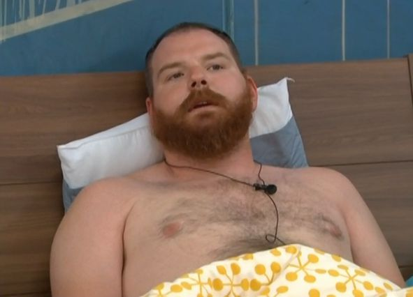 Spencer talking in bed