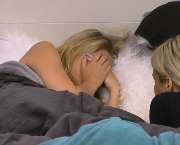 Aaryn crying in bed