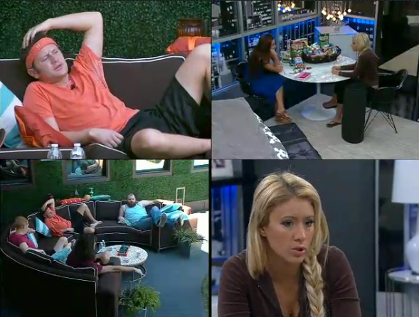 Big brother 15 live feeds week 9 friday daytime highlights big brother network for Watch celebrity showmance